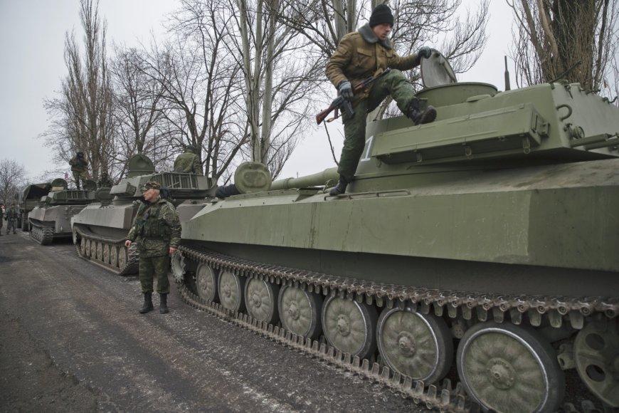 Rusijos teroristai netoli Jelenovkos