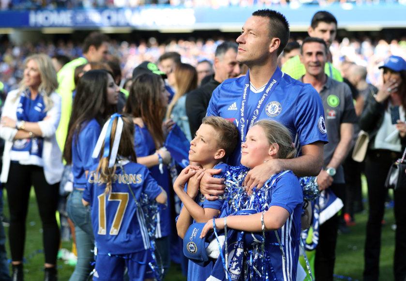 Johnas Terry su šeima