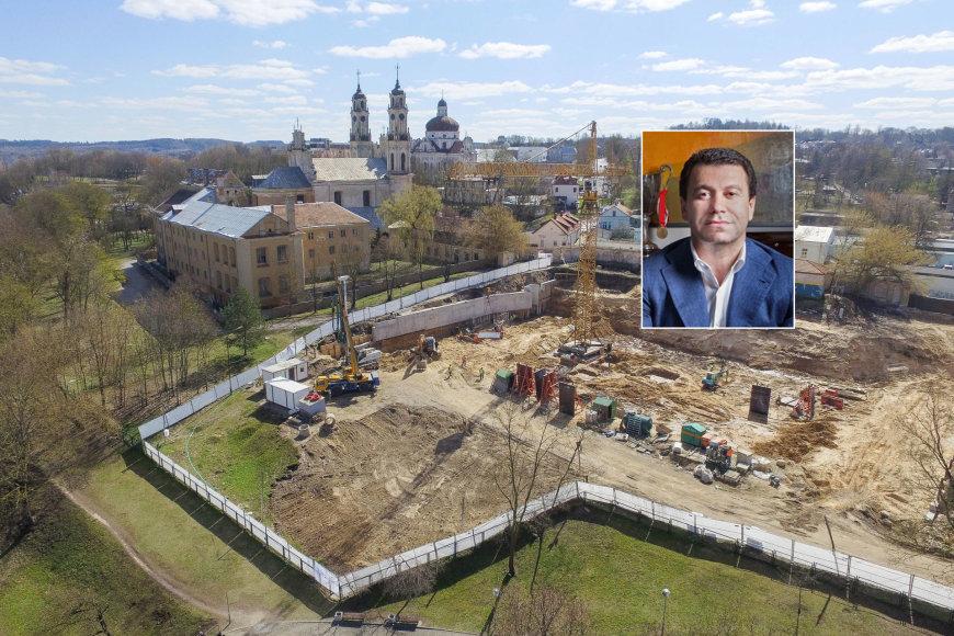 """Ant Vilniaus Išganytojo kalvos statomas daugiabučių projektas """"Misionierių sodai"""""""