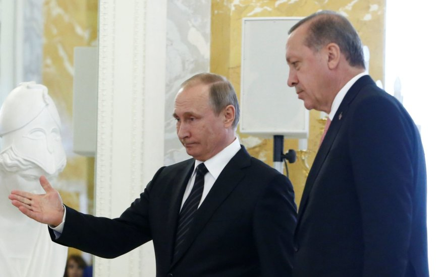 Vladimiro Putino ir Recepo Tayyipo Erdogano susitikimas
