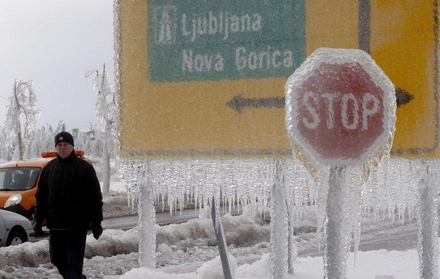 Slovėnija – ledo gniaužtuose.