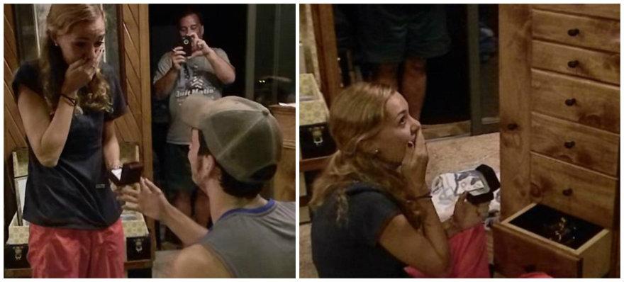 Blake'o ir Carly sužadėtuvės