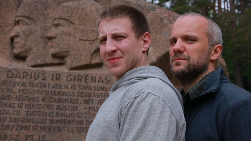 Saulius ir Paulius prie Puntuko