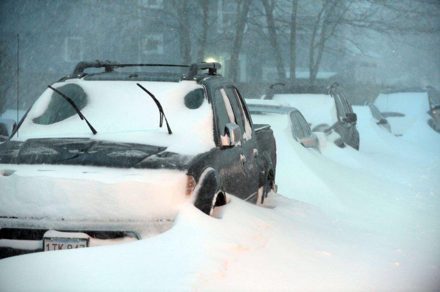 Sniegas Masačiusetse