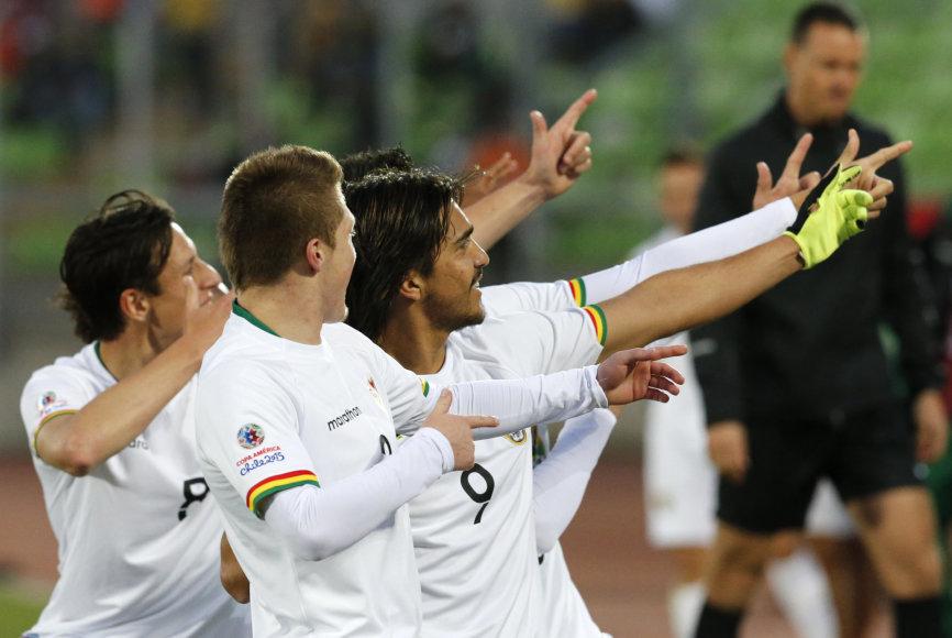 Bolivijos futbolininkų triumfas