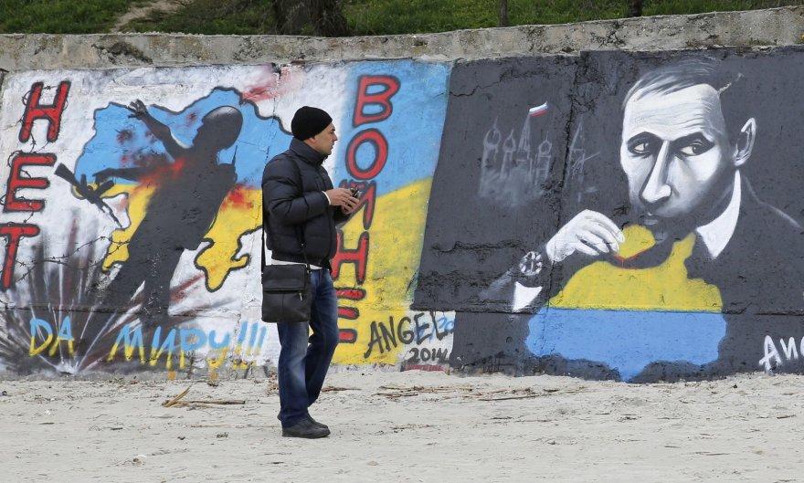 Grafiti prieš Rusijos agresiją
