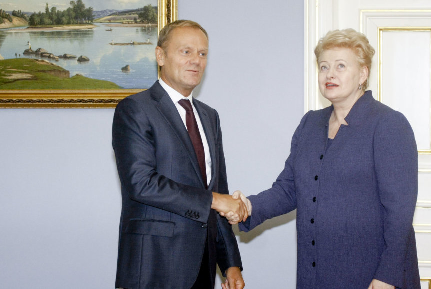 Dalia Grybauskaitė ir Donaldas Tuskas