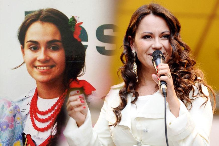 Evelina Sašenko paauglystėje ir dabar