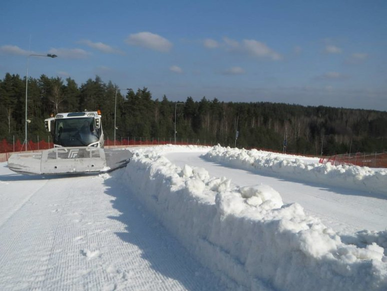 """Ruošiama """"Snow Kayak 2014"""" trasa"""