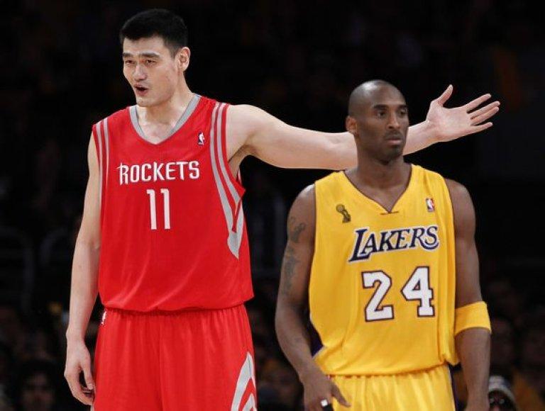 Yao Mingas ir Kobe Bryantas