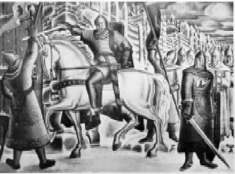 Stasys Ušinskas. Didysis kunigaikštis Algirdas prie Maskvos vartų