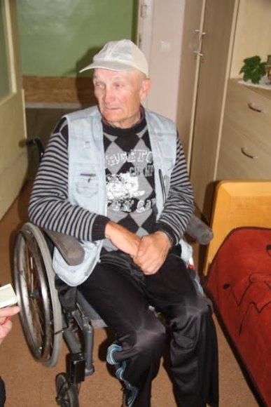 neįgalus senolis Petras Antosaitis