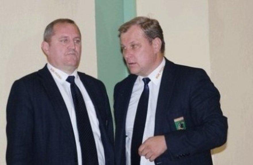 V.Šeškus (kairėje) ir A.Bartuška