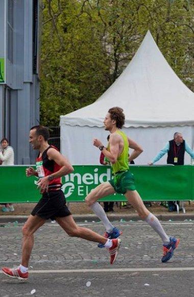 Karolis Urbelionis Paryžiaus maratono metu
