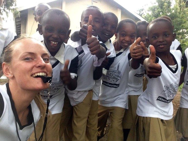 Maratonininkė Monika Juodeškaitė Tanzanijoje