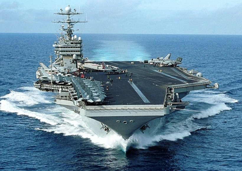 """JAV atominis lėktuvnešis """"George Washington"""""""