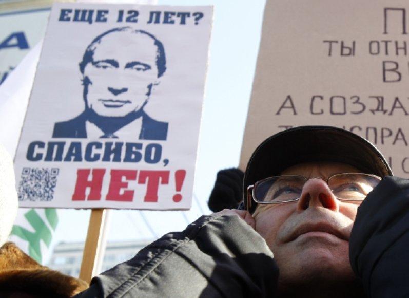 Mitingo Maskvoje akimirka