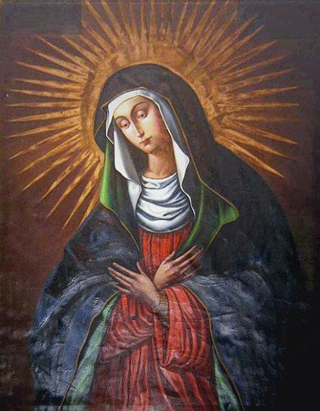 Aušros Vartų Švnč. Mergelės Marijos paveikslas be papuošimų
