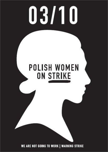 Plakatas su kvietimu į streiką