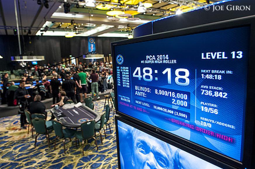 """""""PokerStars.net Karibų nuotykio"""" turnyro laikrodis"""