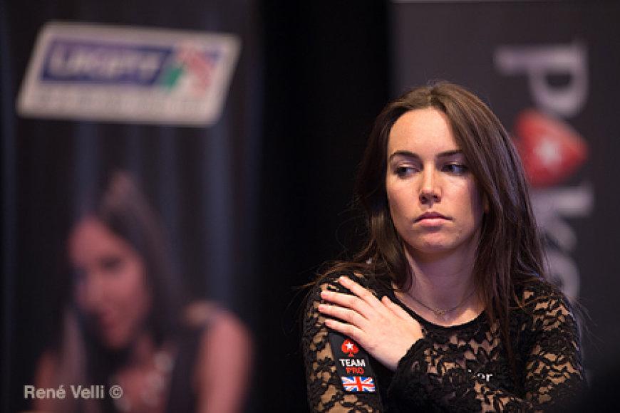 Liv Boeree lemtingą turnyro Edinburge akimirką