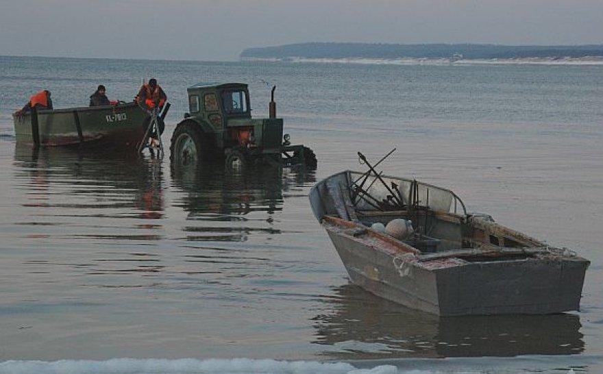 Žiema Baltijos pajūryje: žvejai Melnragėje