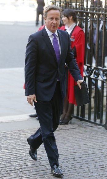 Didžiosios Britanijos premjeras Davidas Cameronas