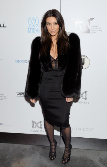 Television personality Kim Kardashian attends a Generation NXT Dream Foundation benefit event at 1 Oak on Sunday, Feb. 16, 2014, in New York. (Photo by Evan Agostini/Invision/AP) / TT / kod 436