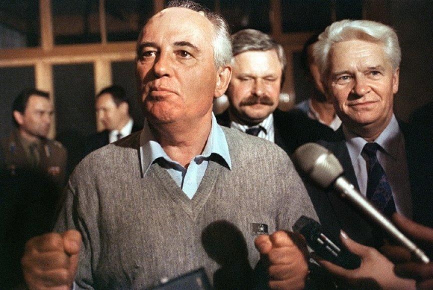 Sovietų Sąjungos lyderio Michailo Gorbačiovo pirmasis interviu žiniasklaidai po nepavykusio perversmo Maskvoje