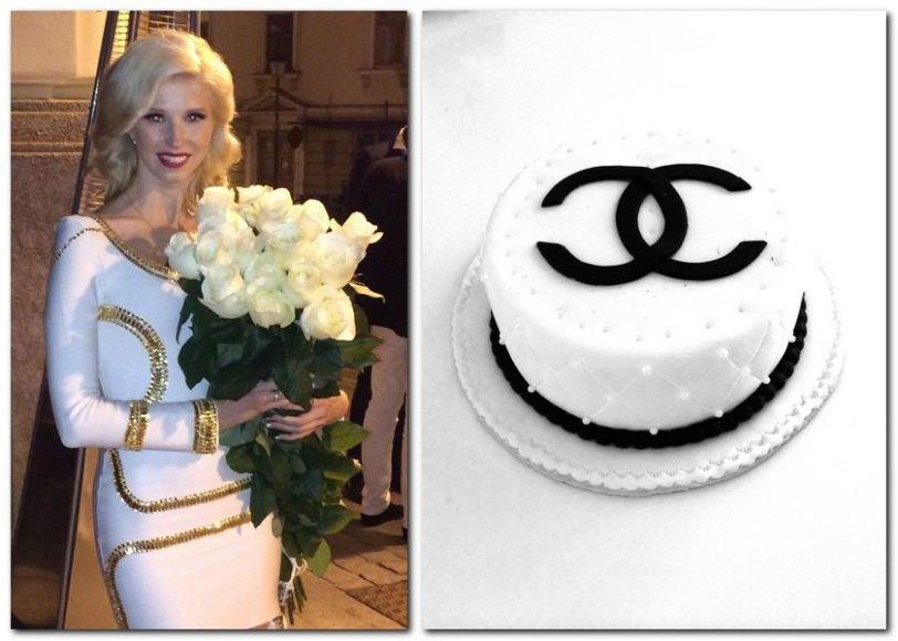 """Inga Stumbrienė 31-ojo gimtadienio proga gavo tortą su """"Chanel"""" mados namų logotipu"""
