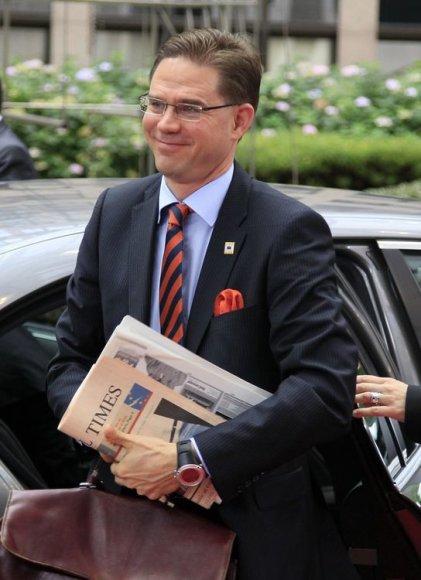 Suomijos ministras pirmininkas Jyrki Katainenas