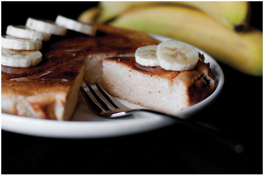 Bananinis varškės apkepas