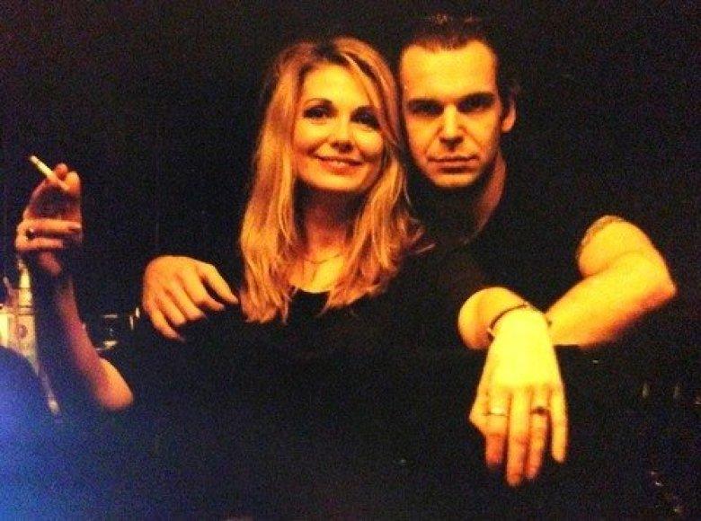 Gražina Baikštytė ir Aras Vėberis 2000 metais