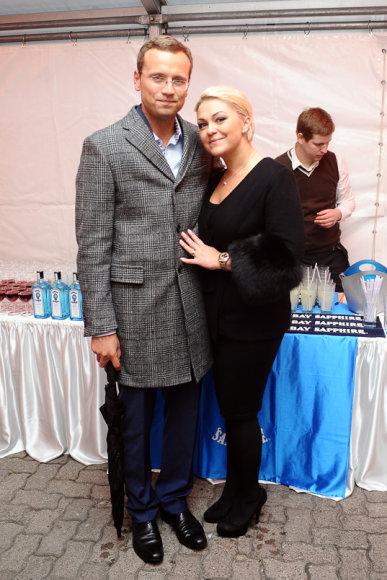 Agnė Grigaliūnienė su vyru Simonu