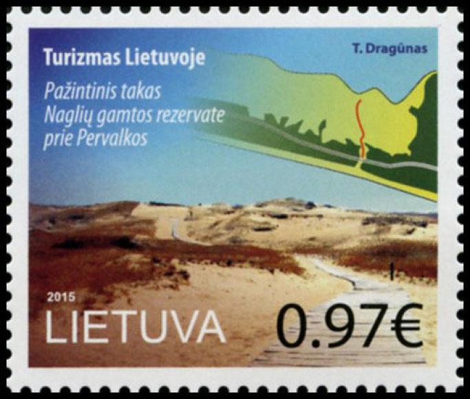 Pirmasis pašto ženkle įamžintas Naglių gamtos rezervatas