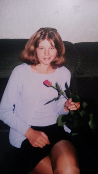 Indrė Burlinskaitė per rugsėjo pirmąją, 11-metų