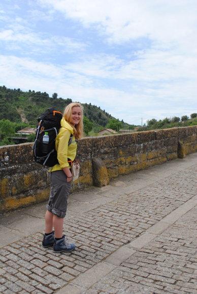 I.Vaitkevičiūtė kelyje į Santjago de Kompostelą