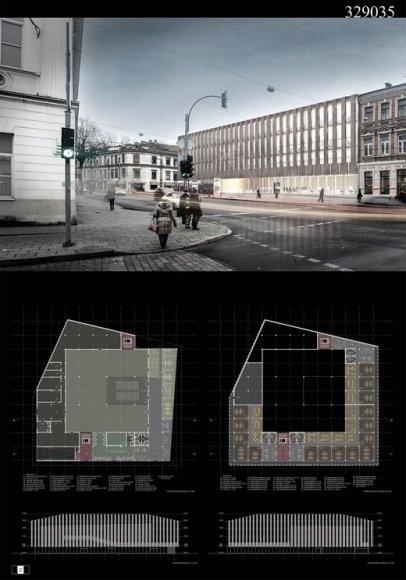 "Bendrovės ""Senojo miesto architektai"" projektas"