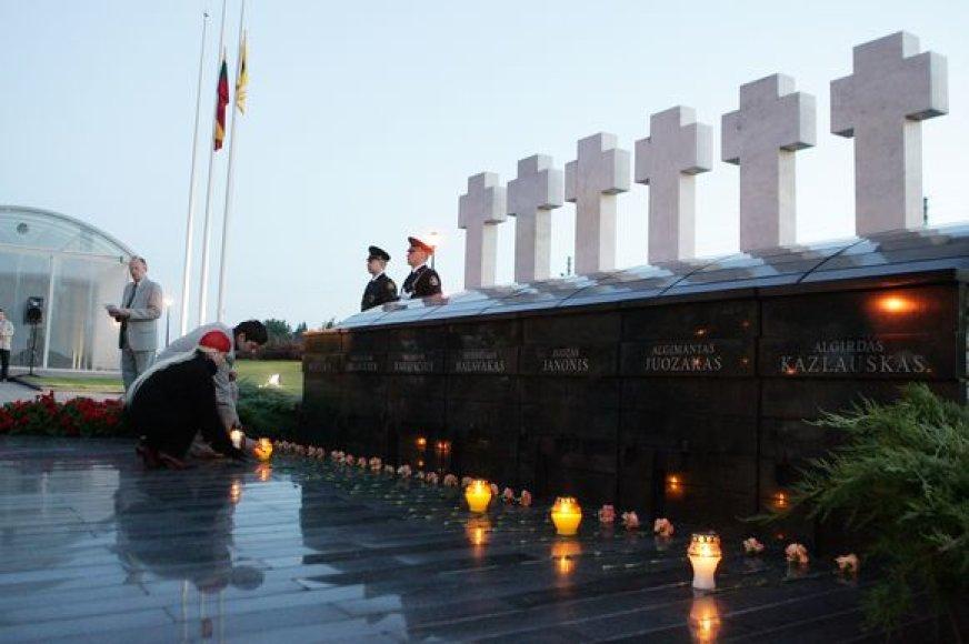 Medininkų aukų monumentas Medininkuose.