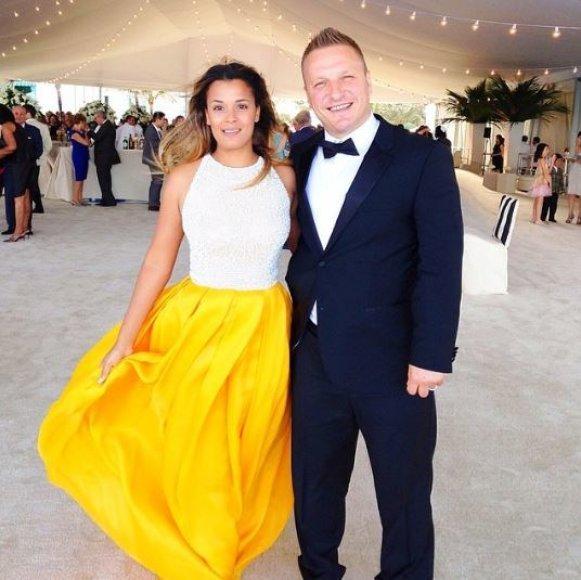 Darius Kasparaitis su žmona Lisa Carrol