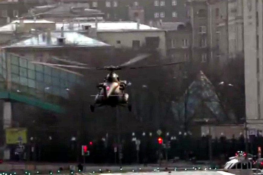 Karinis sraigtasparnis Maskvos centre