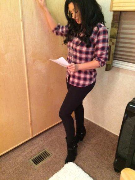 """Christina Aguilera serialo """"Nashville"""" filmavimo aikštelėje"""