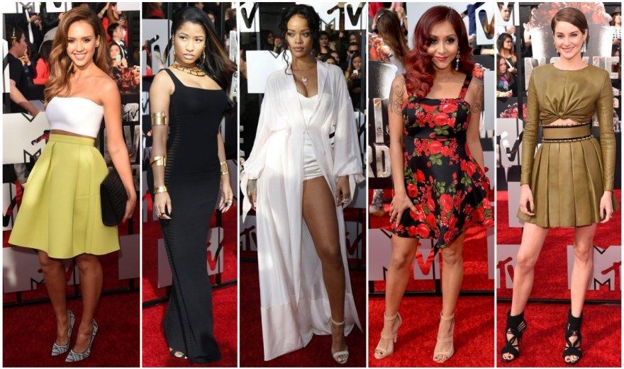 Jessica Alba, Nicki Minaj, Rihanna, Nicole Polizzi-Snooki ir Shailene Woodley