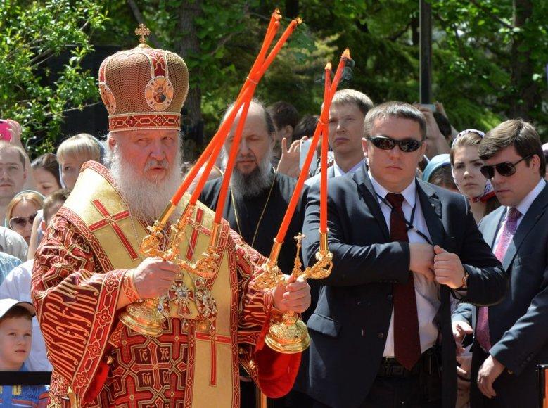 Patriarchas Kirilas vadovavo pamaldoms Rusijos ambasadoje Pekine.