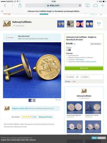 Lito monetos tampa aksesuarais