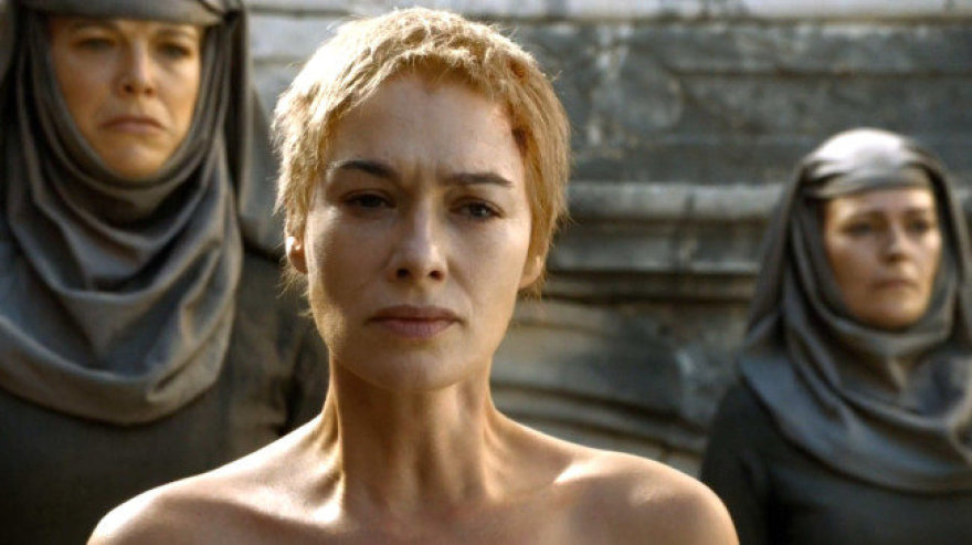 """Sostų karai"": karalienė Cersei Lannister (akt. Lena Headey)"