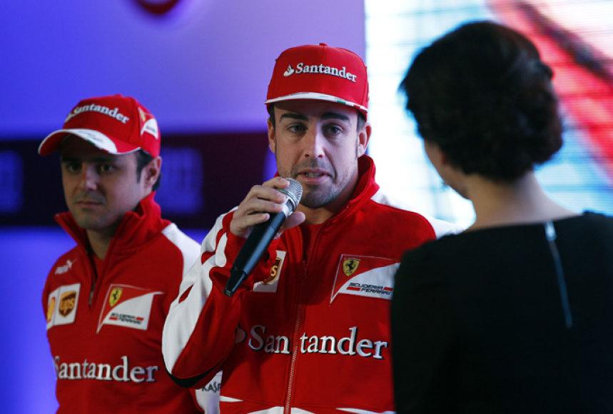 Felipe Massa ir Fernando Alonso