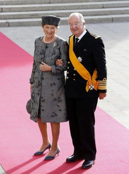 Belgijos karalius Albertas II ir karalienė Paola