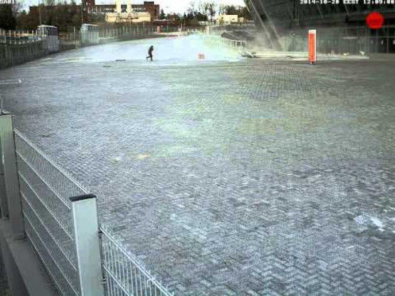 Sprogimas prie Donecko stadiono