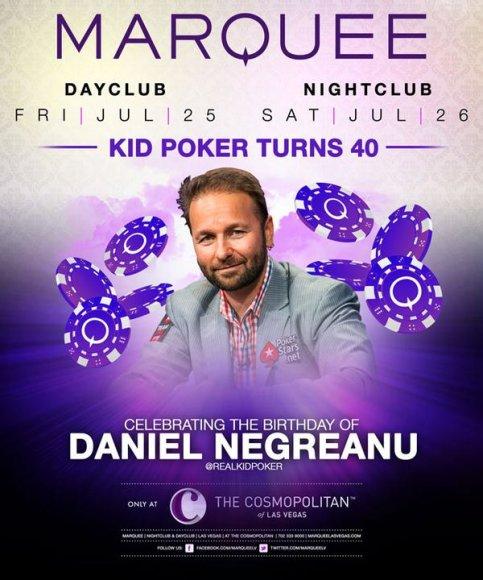 Danielio Negreanu gimtadienio plakatas